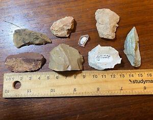 Aboriginal Neolithic Stone Tools 8 Pieces
