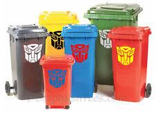 Transformers, Autobots, Wheelie Bin Stickers, House Numbers, Graphic Decals,