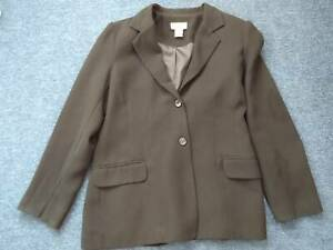 Used Lady Womens coat Formal Black Millers Office Jacket Size 10 Lady Vest Cape