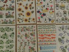 24 Sheets Rub-on Stickers 3 sheets each or You Pick Any 24 Sheets *Scrapbooking