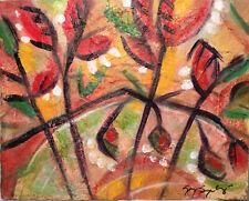 "Gay Seydlitz 2020 Mixed Media Floral Painting 9 7/8"" x 7 15/16"" Signed Original"