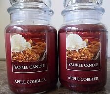 Yankee Candle  Apple Cobbler   22 oz. Lot of 2 NEW  Free shipping