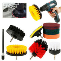 11Pcs Power Scrubber Brush Set Cleaning Bathroom Kitchen Tile Cordless Drill Kit