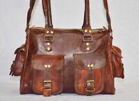 Women Lady Satchel Crossbody Shoulder Bag Leather Tote Handbag Purse Brown