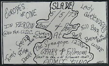 SLADE The Synagoge SAN FRANCISCO 1973 CONCERT Invitation/Ticket GLAM Slayed?