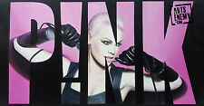 P!NK Stencil - Hand oil painting canvas POP ART signed Truth About Life Pink