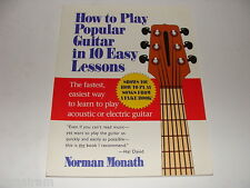 How to Play Popular Guitar in 10 Easy Lessons 1994 Norman Monath