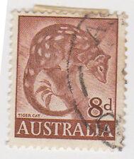 (W1380) 1959 AU 8d brown tiger cat (I)