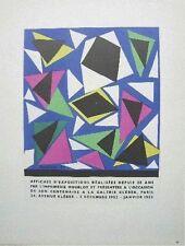 Henri Matisse Lithograph Mourlot Exhibition Poster Galerie Keber 1959