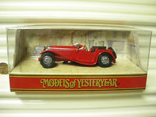 MATCHBOX MODELS OF YESTERYEAR 1997 DARK RED Y1C 1936 JAGUAR SS100 MINT BOXED*