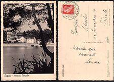 STORIA POSTALE Occupazioni 1939 Cartolina da Lussin Piccolo a Trieste (FSE)