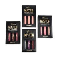 3PCS Sexy Long Lasting Waterproof Matte Liquid Lipstick Cosmetic Lip Gloss Kit J