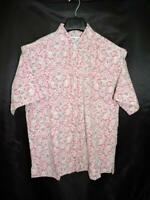 Vintage Tori Richard M Red Hawaiian Shirt Reverse Print Liberty House Aloha Mens