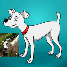 Caricature Pet Portrait Simpsons Yellow Character Custom Made From Your Photo