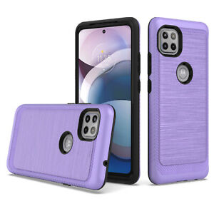 Motorola One 5G Ace 2021 Case, Slim Shockproof Cover+Tempered Screen protector