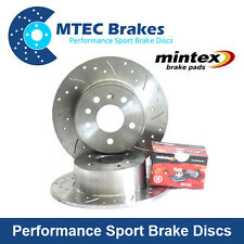Mercedes SL350 R230 03-13 Drilled & Grooved Rear Brake Discs with Pads