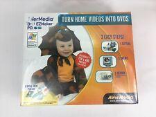 Neu Versiegelt Avermedia DVD Ezmaker Pci-Karte Drehen Heim Videos in Dvds W/