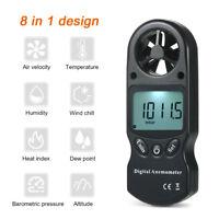 Anemometro Termometro Digital Medidor de Velocidad Viento Aire Kitesurf Windsurf