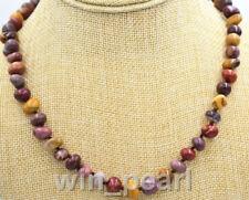 "NEW Irregular 8x10mm natural Mookaite Nugget gem necklace 18""AAA"