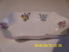Crown Staffordshire Floral Bouquet jewelry tray RARE