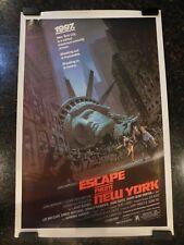 "ESCAPE FROM NEW YORK Original 1981 Movie Poster, 27"" x 41"", C8 Very Fine"