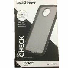 Tech21 Evo Check Case Cover for Motorola Moto Z2-Play-Smokey Black