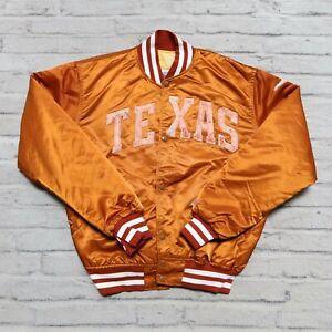 Vintage 90s Texas Longhorns Satin Jacket by Starter Size L