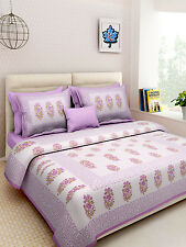Rajasthani Handmade New Design Pure Cotton Bed Sheet With 2 Pillow Covers Set