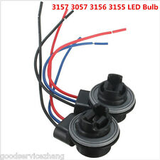 2pcs LED Bulb Brake Signal Light Socket Harness Wire Adapter 3157 3057 3156 3155