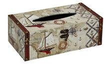 Vintage Sailing Boat Design Tissue Box Rectangular Tissue Cover