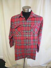 Camicia da Uomo Magellan, taglia XL, EU 5, Scozzese Rosso, Casual,
