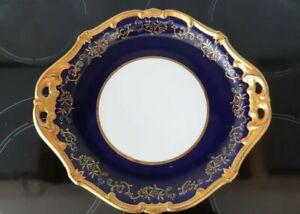 Echt Weimarer Kobalt blau gold Porzellan Katharina Servier Platte