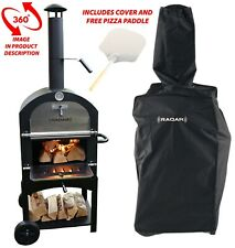 More details for floor standing wood fired pizza oven with cover and free pizza paddle