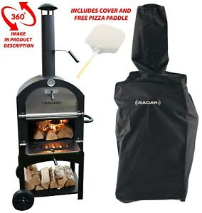 Floor Standing Wood Fired Pizza Oven With Cover And Free Pizza Paddle