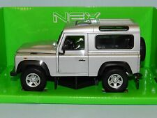 Land Rover Defender Silver 1 24 Scale Welly 22498s