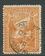 Tasmania 1905-08 Russell Falls 4p ocher-Attractive Landscape Topical (106) used