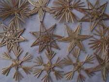 12 x GROßE STROHSTERNE ,10 cm! Deko Advent, Weihnachten! KLASSISCHER BAUMSCHMUCK