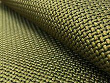 Designer Basketweave Antique Bronze Olive Green Faux Leather Upholstery Vinyl