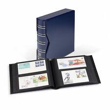 Album für 200 FDCs oder Briefe Din Lang inkl. Schutzkassette blau   (354422)