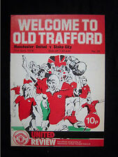 Orig.PRG   England 1.Division  1975/76  MANCHESTER UNITED FC - STOKE CITY FC  !!