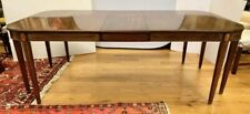 """Chippendale Style Mahogany Inlay Eight Leg Expandable Dining Room Table 104"""""""