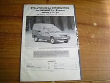 REVUE TECHNIQUE évolution des RENAULT SUPER 5 et EXPRESS 1.1 / 1.2 1995 à 1997
