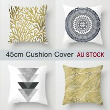 Black White Grey 45x45cm Cushion Cover Gold Tree Leaves Sofa Pillow Cover