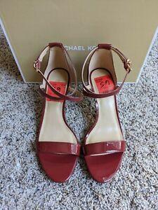 NIB SIZE 6.5 MICHAEL Michael Kors Ava Heeled Dress Sandals BRANDY