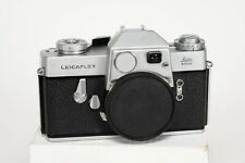 Leica Leicaflex SL Silver SLR Film Camera SN 1168005 with Awesome Leather Case