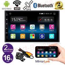 "7"" Autoradio Android 5.1 2 Din Stereo Quad Core Car GPS Bluetooth Radio+Rear Cam"