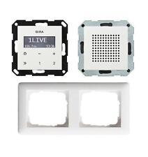 Gira Unterputz Radio RDS System 55 Lautsprecher und Rahmen reinweiss glänzend