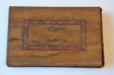 JERUSALEM FLOWERS AND VIEWS OF THE HOLY LAND WOODEN COVER PRESSED FLOWERS