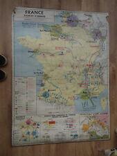 Carte Affiche Scolaire Carte Metallurgie Energie Le Meur Anscombre M.D.I