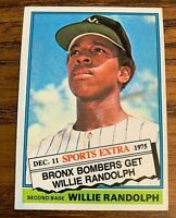 1976 Topps Traded #592 Willie Randolph RC - Yankees